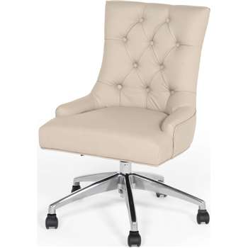 Flynn Office Chair, Putty Beige PU (101 x 56cm)