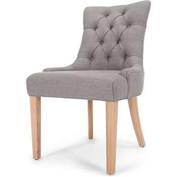 Flynn Scoop Back Chair, Graphite Grey (91 x 55cm)