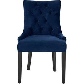 Flynn Scoop Back Chair, Royal Blue Velvet (91 x 55cm)