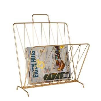 Foldable magazine rack gold (40 x 56cm)