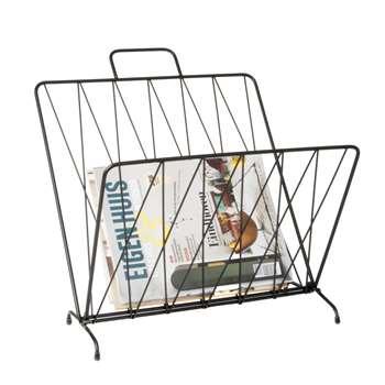 Foldable magazine rack matt black (40 x 56cm)