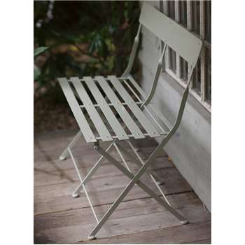 Folding Bistro Bench in Clay - Steel (81.5 x 82cm)