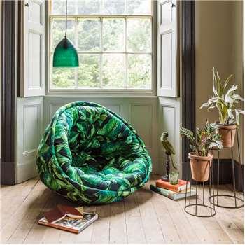 Foliage Print Cocoon Chair (90 x 90cm)