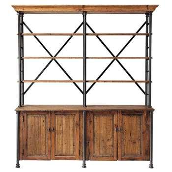 FONTAINEBLEAU Recycled wood wardrobe W 200cm (220 x 200cm)