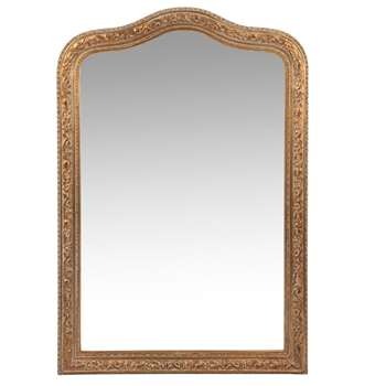 FONTENAY - Matte Gold Paulownia Mirror (H95 x W65 x D4cm)