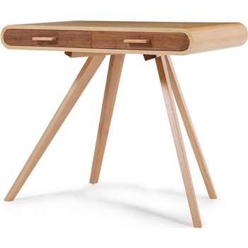 Fonteyn Desk, Oak and Walnut (75 x 90cm)