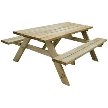 Forest Large Retangular Picnic Table (H77 x W177 x D153cm)