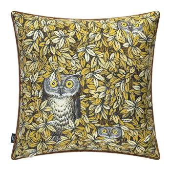 Fornasetti - Civette Silk Cushion (H45 x W45cm)