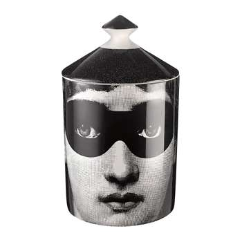 Fornasetti - Don Giovanni Scented Candle - Black/White - 300g (H15 x W11 x D11cm)