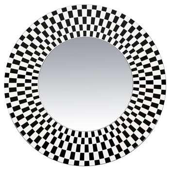 Fornasetti - Egocentrismo Convex Mirror - Round - Black/White (Diameter 50cm)