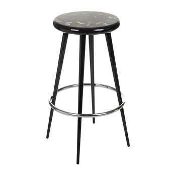 Fornasetti - Farfalle Bar Stool - Black (H79 x W38 x D38cm)