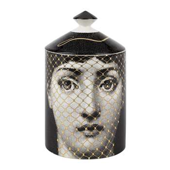Fornasetti - Golden Burlesque Scented Candle - 300g (H15 x W11 x D11cm)