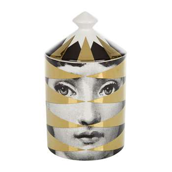 Fornasetti - Losanghe Scented Candle - Gold - 300g (H15 x W11 x D11cm)