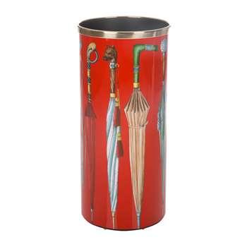 Fornasetti - Ombrelli e Bastoni Umbrella Stand - Red (57 x 26cm)