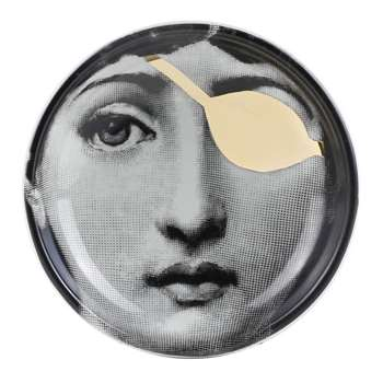 Fornasetti - Tema e Variazioni Ashtray/Trinket Tray Gold - No. 8 (13 x 13cm)