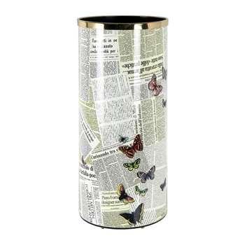 Fornasetti - Ultime Notizie Umbrella Stand (H57 x W26 x D26cm)