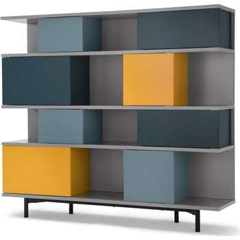 Fowler Large Shelving Unit, Multicolours (142 x 160cm)