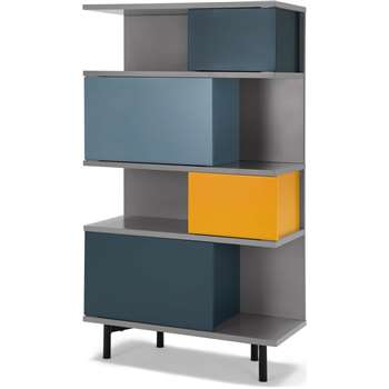 Fowler Tall Shelving Unit, Multicolour (H142 x W80 x D35cm)