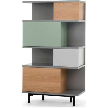 Fowler Tall Shelving Unit, Multicolour Ash (142 x 80cm)