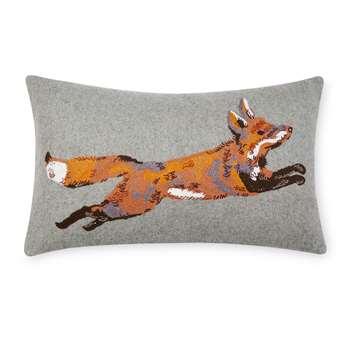 Fox Embroidered Cushion (30 x 50cm)