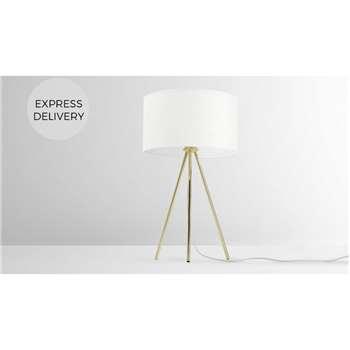 Frances Tripod Table Lamp, Brass (H60 x W35 x D35cm)