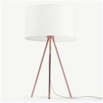 Frances Tripod Table Lamp, Copper (H60 x W35 x D35cm)