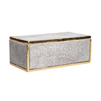 Franco Faux Shagreen Box (9 x 21.5cm)