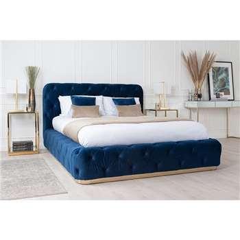 Frankfurt Storage Bed - Royal Blue (H112 x W165 x D228cm)