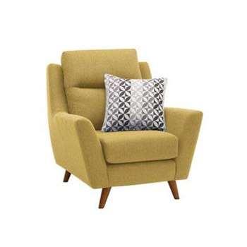 Fraser Lime Fabric Armchair (H102 x W96 x D97cm)