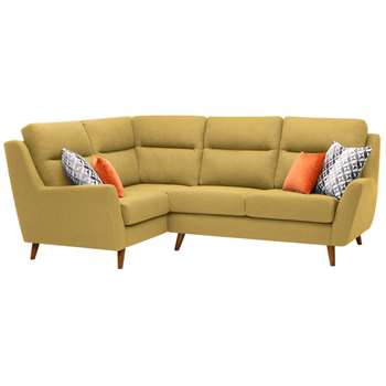 Fraser Lime Fabric Corner Sofa Right Hand (H102 x W257 x D186cm)