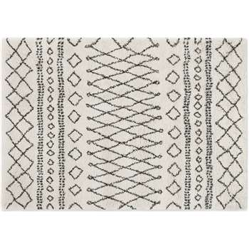 Freda Rug, Small, Off White (H120 x W170cm)