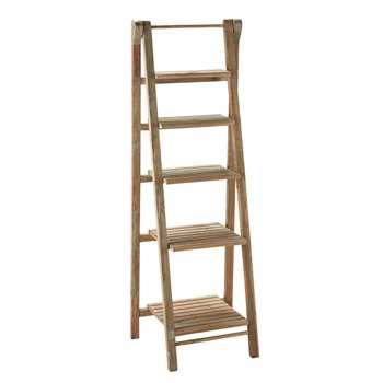 FREEPORT Wooden ladder shelf unit W 46cm