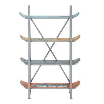 FREESTYLE 4 skateboards multicoloured metal shelf unit W 86cm