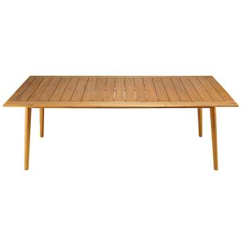 FREJUS 8-seater rectangular garden table in solid black locust (77 x 220cm)