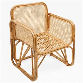 French Cane Chair - Natural (H71 x W51 x D71cm)