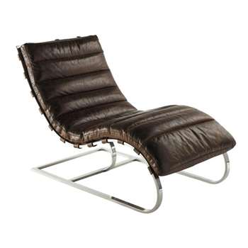FREUD Leather armchair in brown
