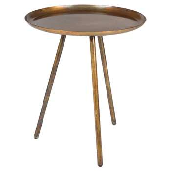 Frost Round Side Table in Copper (H45 x W39 x D39cm)