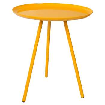 Frost Round Side Table in Tangerine (H45 x W39 x D39cm)