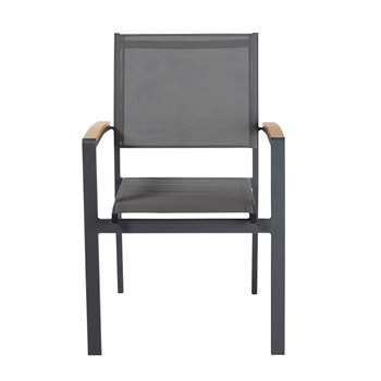 FUJI Anthracite Grey Aluminium Garden Armchair (86 x 57cm)