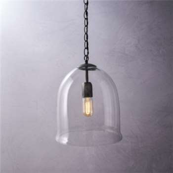 Fulton Glass Cloche Ceiling Light, Clear (Diameter 28cm)
