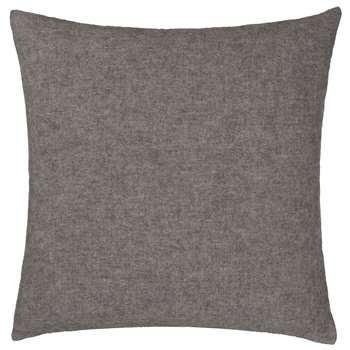 Fyn Large Cushion Cover, Grey & Natural Reversible Design (80 x 80cm)
