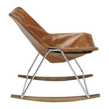 G1 Leather rocking chair in brandy colour (74 x 72cm)