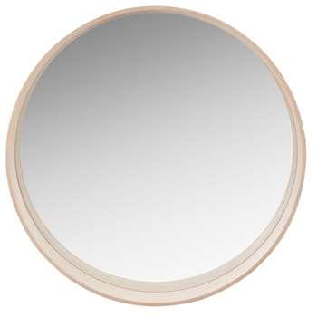 GABRIEL - Round Beige Mirror (Diameter 70cm)