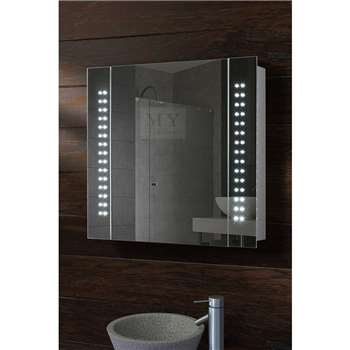 Galactic Illuminated LED Bathroom Mirror Cabinet (60 x 65cm)