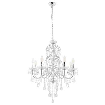 Galena 8 Light Ceiling Light Polished Chrome (H137 x W63 x D63cm)