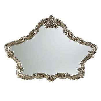 Gallery French Over Mantel Mirror, Silver (76.2 x 106.7cm)