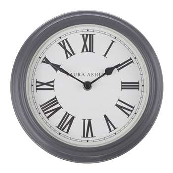 Gallery Small Clock Charcoal (Diameter 25cm)