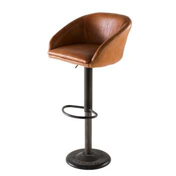 GAMA Camel Industrial Leather Bar Chair (H82 x W45 x D48cm)