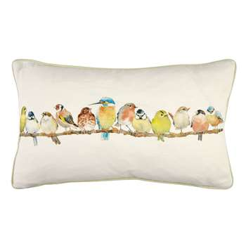 Garden Birds Hedgerow Cushion