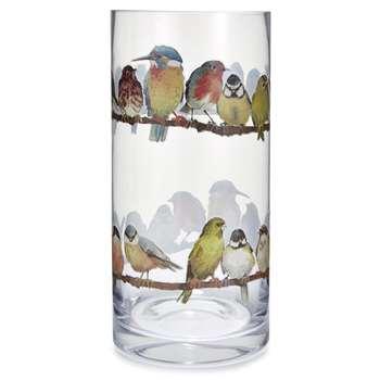 Garden Birds Printed Vase